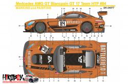 1:24 Mercedes-AMG GT3 Battlefield 1 Spa-2017 #84 Decals - Pre-Order