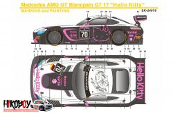 1:24 Mercedes-AMG GT3 Hello Kitty #70 Decals - Pre-Order