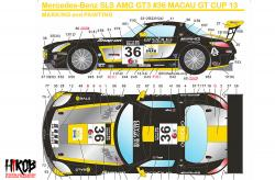 1:24 Mercedes-AMG SLS GT3 #36 FIA World Cup Macau 2013 Decals (Fujimi)