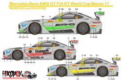 1:24 Mercedes-Benz AMG GT FIA GT World Cup Macau 2017 Decals - Pre-Order