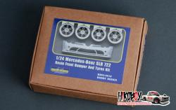 1:24 Mercedes-Benz SLR 722 Resin Front Bumper and Tyres kit