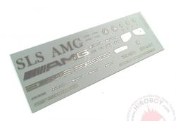 1:24 Mercedes-Benz SLS AMG Metal Logo / Emblem For Revell