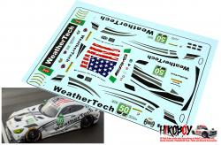 1:24 Mercedes AMG GT3 Riley Motorsports / WeatherTech #50 Decals