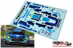 1:24 Mercedes AMG GT3 Black Falcon #4 Nürburgring 24h 2017 Decals