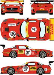 1:24 Mercedes SLS GT3 #35 24h of Spa 2011 (Black Falcon Racing)