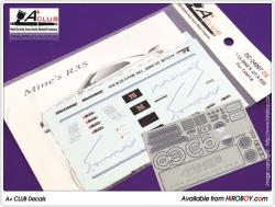 1:24 Mines Decals and Photoetched   Parts for Nissan GT-R R35 (Tamiya)