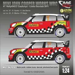 1:24 Mini Cooper WRC Sordo, Meeke - Rally RACC Catalunya 2011 (decals, resin parts + P/E) Transkit