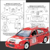 1:24 Mitsubishi Lancer Evo Composite Fiber Decal Template Set #7010