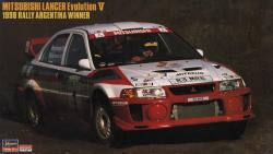 "1:24 Mitsubishi Lancer Evolution V 1998 ""Rally Argentina Winner"""