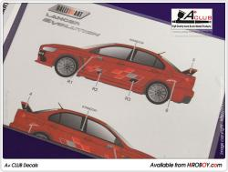 "1:24 Mitsubishi Lancer Evolution X ""RALLIART"" (Aoshima)"