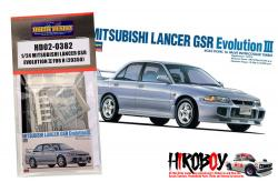 1:24 Mitsubishi Lancer GSR Evolution Ⅲ Detail up set for Hasegawa (23050)(PE+Resin)