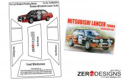1:24 Mitsubishi Lancer Turbo 84 RAC Rally Pre Cut Window Painting Masks (Beemax)