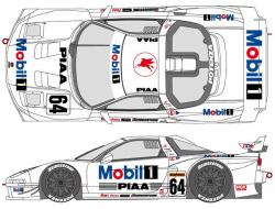 1:24 Mobil 1 Honda NSX 1998 Decals for Tamiya