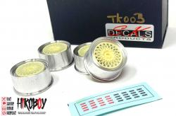 1:24 BBS E50 Wheels- Rims for Gr.A BMW E30