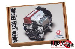 1:24 Honda K20A Engine Full Detail Kit (Resin+PE+Decals+Metal Logo+Metal Parts)