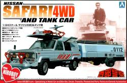 1:24 Nissan Safari 4WD And Tank Car Model Kit