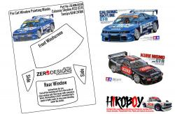 1:24 Calsonic/Kure Skyline R33 GT-R Pre Cut Window Painting Masks (Tamiya)