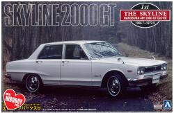 1:24 Nissan Skyline 2000GT Hakosuka (4 Door) GC10 Model Kit