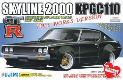 1:24 Nissan Skyline 2000 GT-R ( KPG110) Ken Mary Full Works Over Fender Version (c/w Engine)
