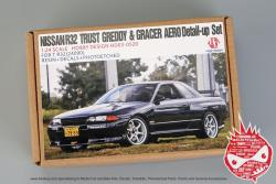 1:24 Nissan Skyline GT-R R32 Trust Greddy & Gracer Aero Detail-up Sets For Tamiya