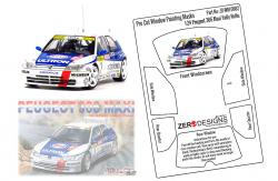1:24 Peugeot 306 Maxi Rally Pre Cut Window Painting Masks (NuNu)