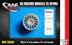 1:24 OZ-Racing wheels 15 spoke 4 screw