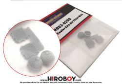 1:24 Oil Cooler and Air Filters (Resin) x2