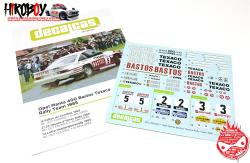 1:24 Opel Manta 400 Group B Bastos Texaco Rally Team Decals