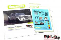 1:24 Fiat 131 Abarth Jolly Club - Sanremo Rally 1980 Decals