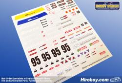 1:24 Option Parts JDM Tuner Manufacture Decals (3) (Spoon)