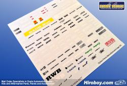1:24 Option Parts Tuner Manufacture Decals (5)