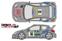 1:24 Peugeot 206 Works Team 2000 Monte Carlo Decals (Tamiya)