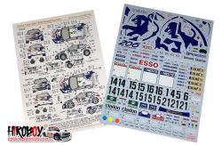 1:24 Peugeot 206 Works Team 1999 Rally Finland/ San Remo Decals (Tamiya)