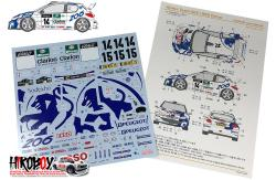1:24 Peugeot 206 Works Team 1999 Corse Decals (Tamiya)