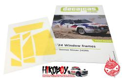 1:24 Nissan 240RS BS110 Window Masks (Beemax)