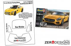 1:24 Mercedes AMG GT Pre Cut Window Painting Masks (Revell)