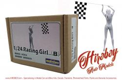 1:24 Racing Girl with Checker Flag (B)