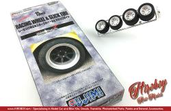 "1:24 Wantabe Racing Wheels 15"" Wheels and Slick Tyres"