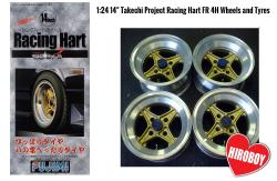 "1:24 14"" Takechi Project Racing Hart FR 4H Wheels and Tyres"