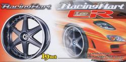"1:24 Racing Hart Type CR 19"" Wheels and Tyres  (Gunmetal)"