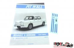 1:24 Renault 8 Gordini Blue Stripes Decals