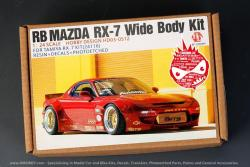 1:24 Rocket Bunny Mazda RX-7 Wide Body Kit For Tamiya RX-7 Kit 24116  (Resin+PE+Metal parts +Decals)