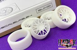 "1:24 21"" Rotiform BLQ Wheels and Resin Tyres"