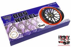 "1:24 17"" BBS Wheel Wheels and Tyres (#13)"