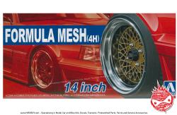 "1:24 SSR Formula Mesh 14"" Wheels and Stretch Wall Tyres"