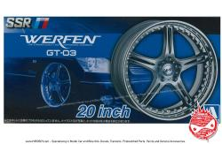 "1:24 SSR Werfen GT-03 20"" Wheels and Tyres"
