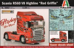 "1:24 Scania R560 V8 Highline ""Red Griffin"" Italeri 3882 Model Kit"