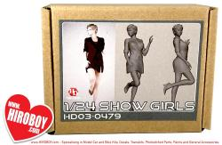 1:24 Show Girls Resin Figure