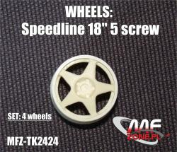 1:24 Speedline Wheels 5 Spoke 5 Stud
