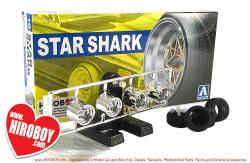 "1:24 Star Shark 14"" Aoshima Wheels and Tyres"